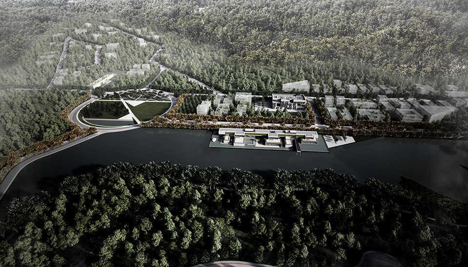 Vista aérea Parque Científico e Tecnológico Itajubá